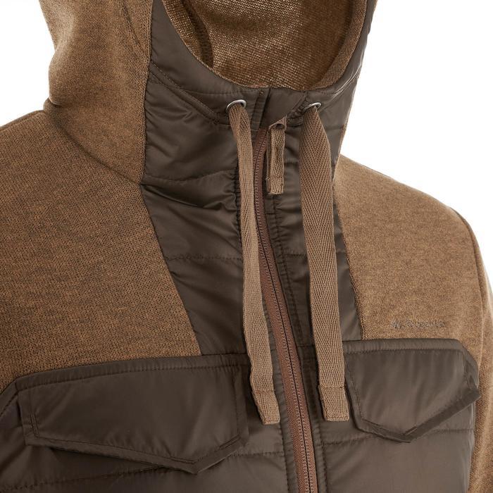 Men's nature hike pullover Arpenaz Hybrid brown - 990336