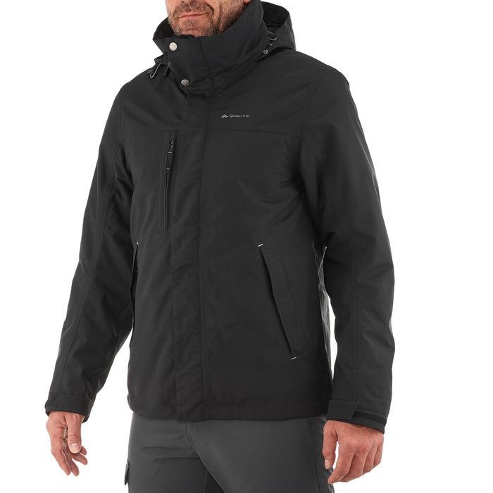 Chaqueta trekking Rainwarm 100 3 en 1 hombre negro