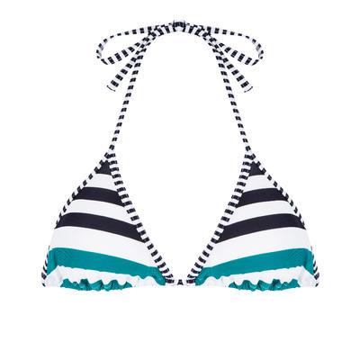 Haut de maillot de bain femme triangle coulissant MAE MAHE grandes rayures