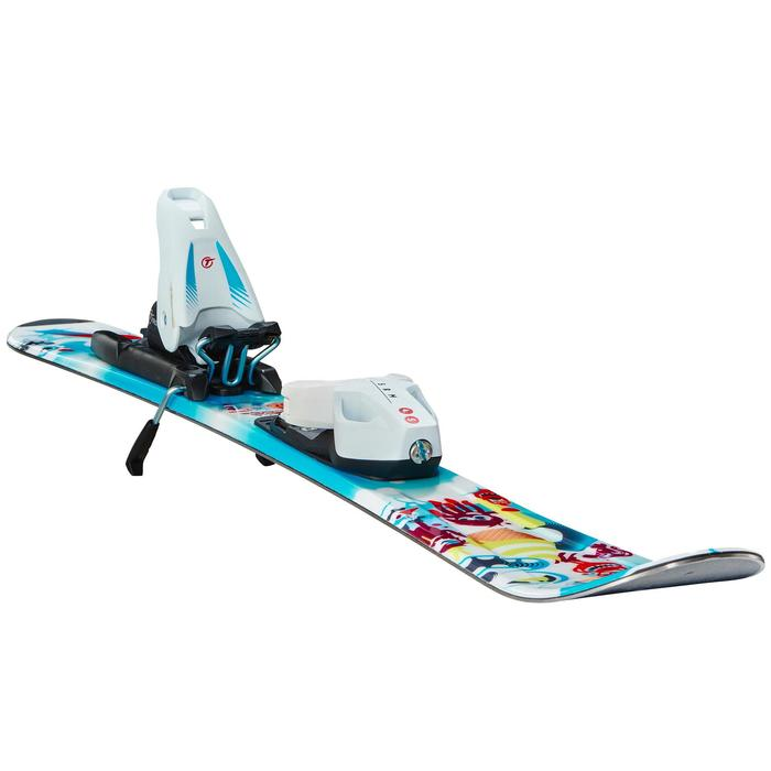 CHILDREN'S DOWNHILL SKIS WITH KID 100 BINDINGS - BLUE