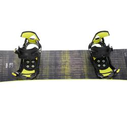 Pack snowboard piste & all mountain, homme, Bullwhip 500 All Road, gris et jaune