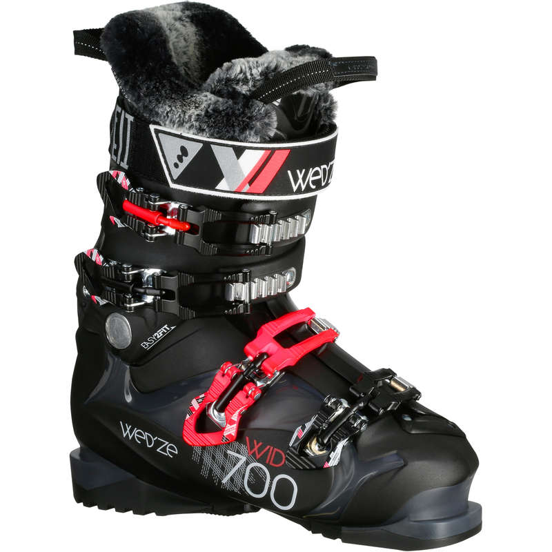 WOMEN'S SKI BOOTS INTERMED. SKIERS Skidor, Snowboard - SKI-P BOOT WID 700 D SVARTA WEDZE - Skidor, Snowboard 17