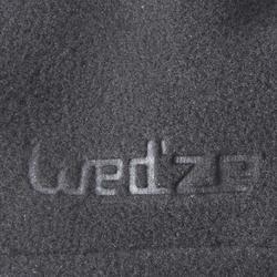 ADULT FLEECE SKI NECKWARMER WITH DRAWSTRING - BLACK