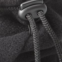 Fleece nekwarmer voor skiën koordstopper zwart