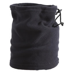 ADULT FLEECE SKI NECKWARMER WITH DRAWSTRING - BLACK