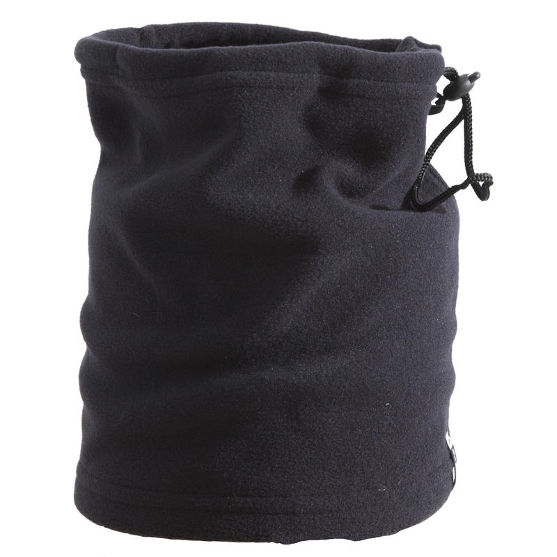 Adult Ski Toggle Fleece Neckwarmer - Black
