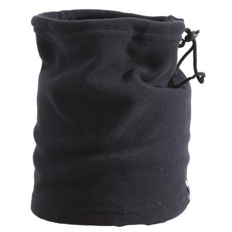 Flīsa slēpošanas šalle ar savilcēju, melna