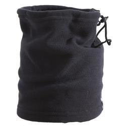 Fleece nekwarmer voor volwassenen met koordstopper zwart