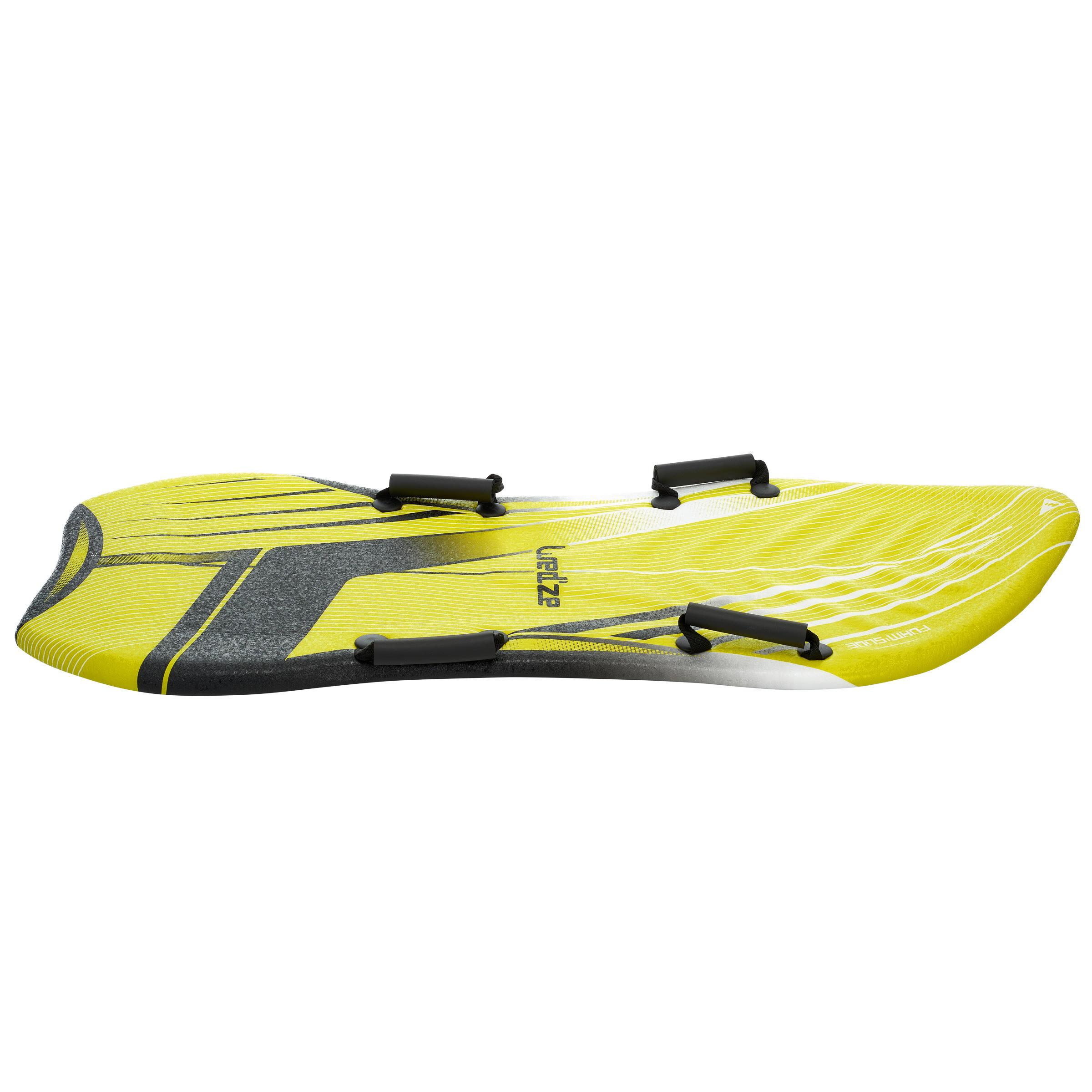Foto van Wed'ze Slee 2 personen in schuim Foam Slide geel