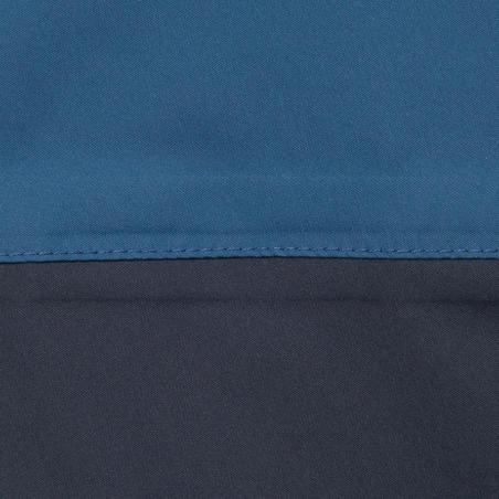 Chamarra Náutica Cortaviento Niño Dinghy 100 Azul /Verde Capucha Ajustable