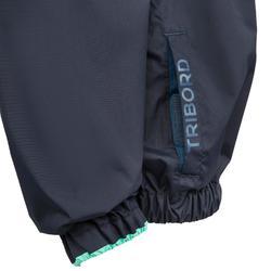 Winddichte spraytop voor kinderen Dinghy 100 donkerblauw/blauw