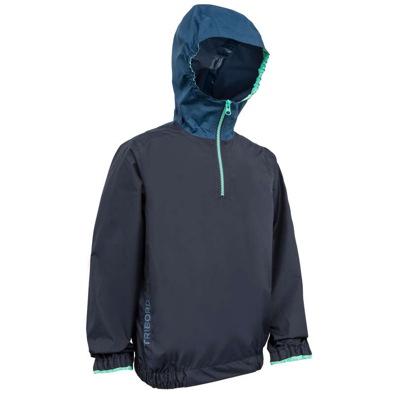 JUNIOR DINGHY EQUIPMENT Dinghy Sailing - 100 Kids Sailing Smock Blue TRIBORD - Dinghy Sailing
