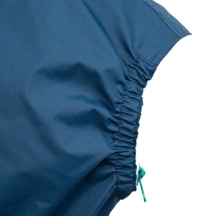 Chaqueta Náutica Cortaviento Niño Dinghy 100 Azul /Verde Capucha Ajustable