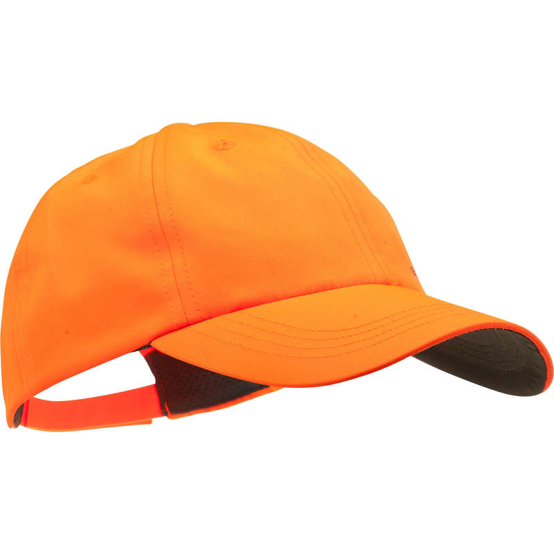 JUNIOR CLOTHING Shooting and Hunting - 100 CAP JUNIOR ORANGE SOLOGNAC - Hunting and Shooting Clothing