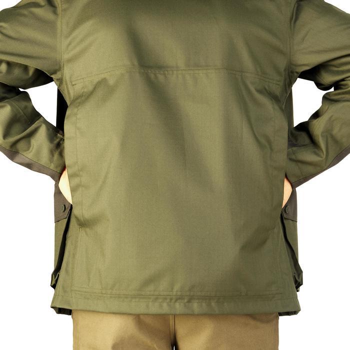 Veste chasse imperméable renfort 100 vert - 991668