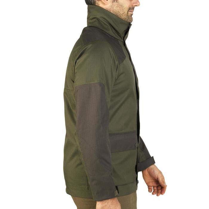 Veste chasse imperméable renfort 100 vert - 991673