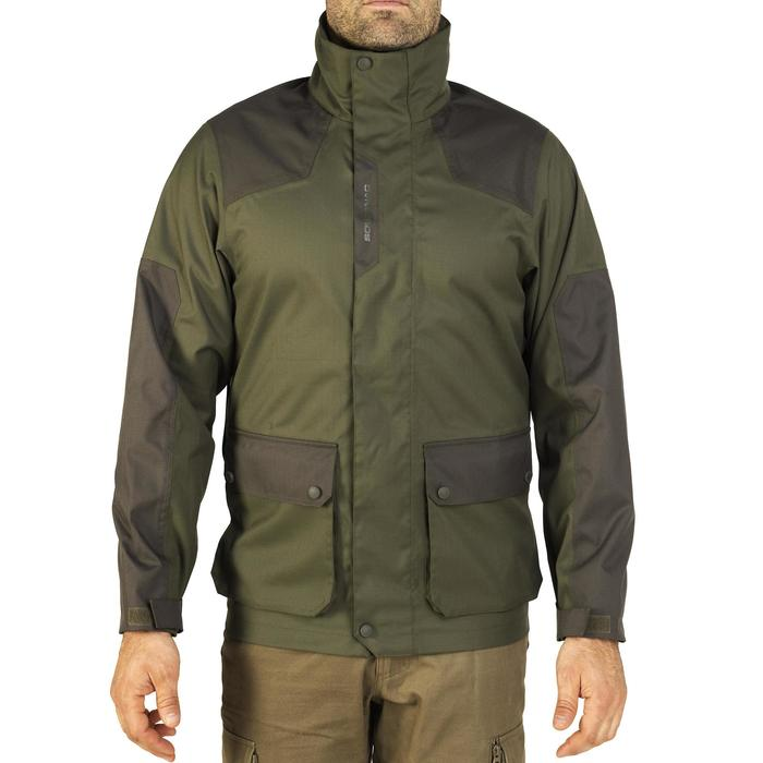 Veste chasse imperméable renfort 100 vert - 991676