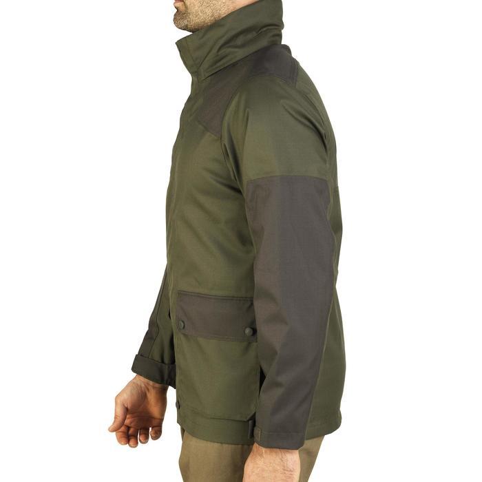 Veste chasse imperméable renfort 100 vert - 991681