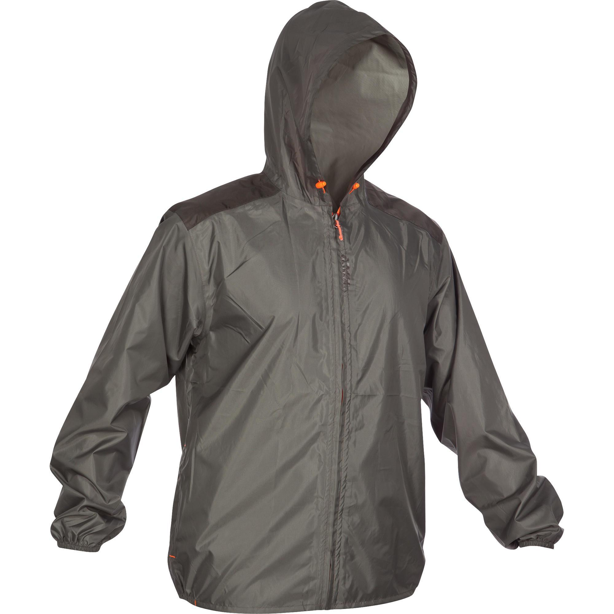 100 Waterproof Light Hunting Jacket - Khaki