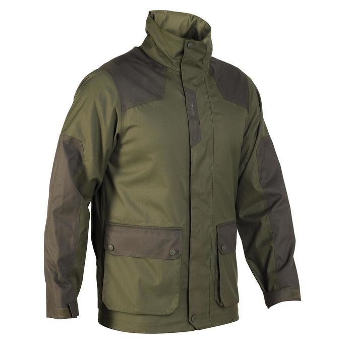 Veste chasse imperméable renfort 100 vert - 991691