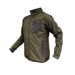 chaqueta corta viento softshell alpha verde evia caza montaña