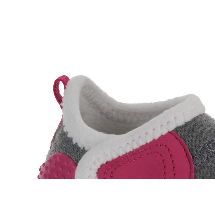 Turnschuhe Babylight 550 grau/rosa/weiß gefüttert