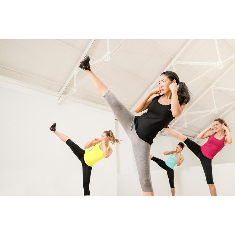7e516ba6ca Camiseta Sin Mangas Fitness Cardio Domyos MyTop 100 Mujer Negro ...