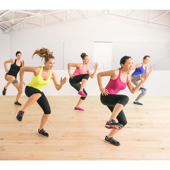 Débardeur cardio fitness femme rose 100