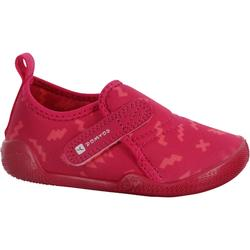 Ultralight Baby Gym Booties - Pink Print
