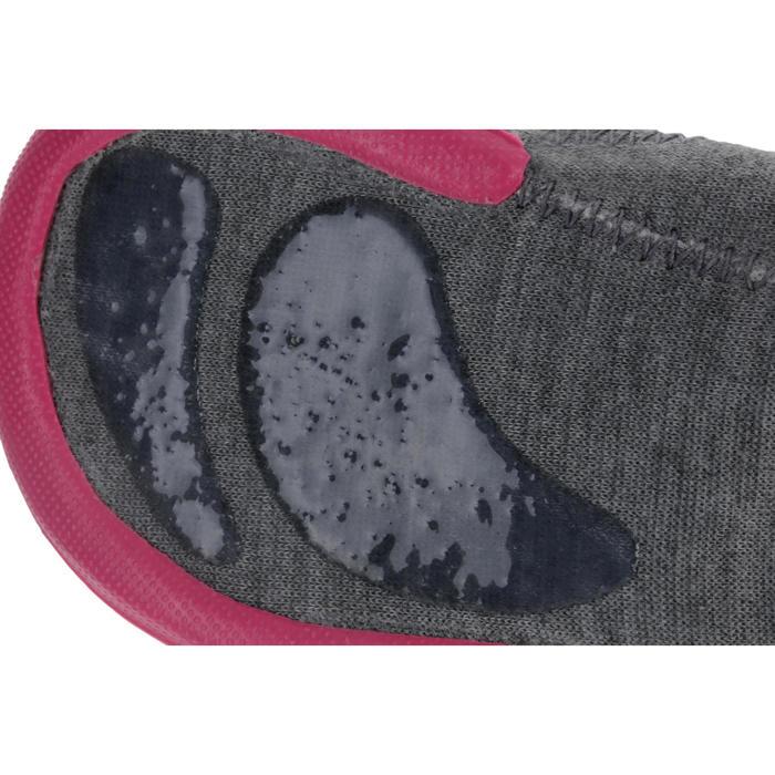 Gymschoentjes Babylight voor kleutergym, gevoerd, grijs/roze