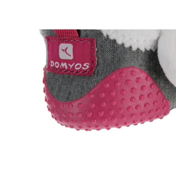 a69b9e5e Zapatillas primeros pasos gimnasia infantil BABYLIGHT gris/rosa forro blanco