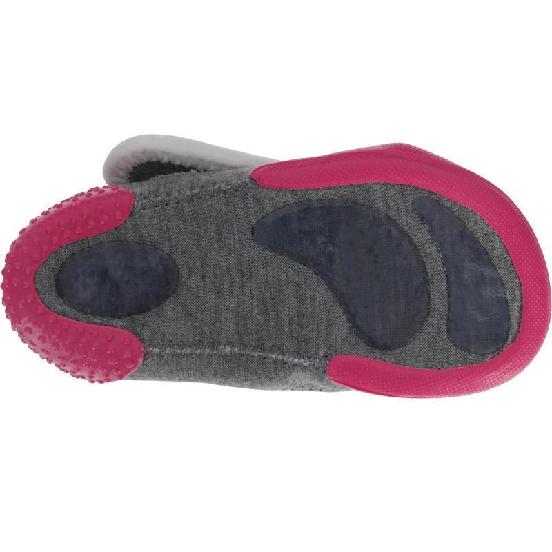 48d4d7e2676 Zapatillas primeros pasos gimnasia infantil BABYLIGHT gris rosa ...