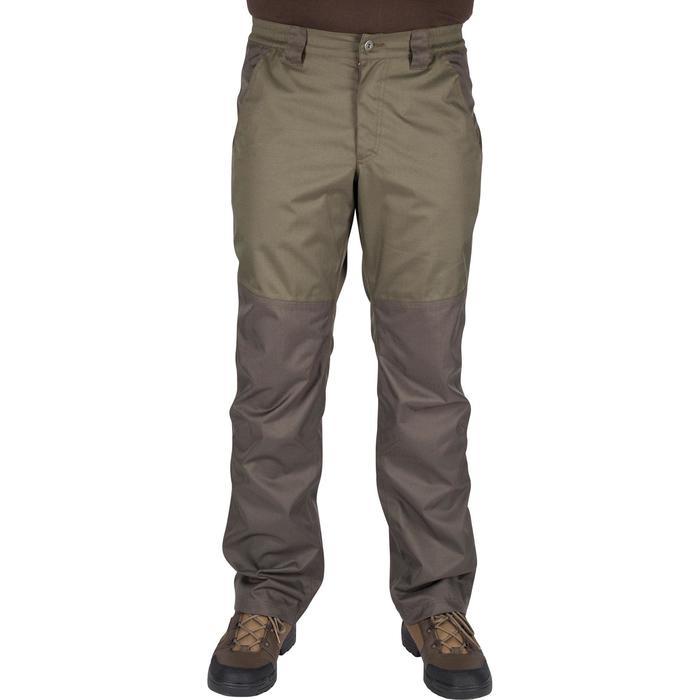 Pantalon imperméable chasse RENFORT 100 VERT - 992269