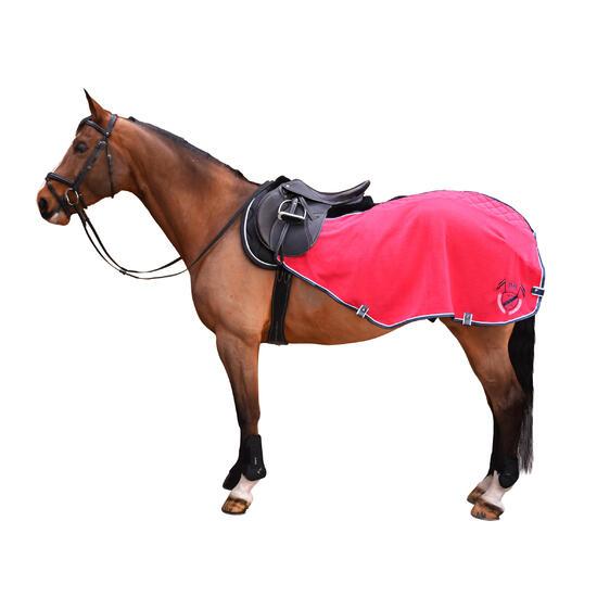 Fleece oefendeken ruitersport - maat paard - 992387