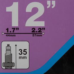 CHAMBRE À AIR 12 POUCES SECTION 1,7 A 2,2 VALVE PRESTA