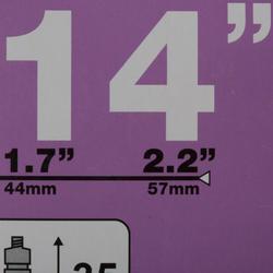 14-Inch 1.7 to 2.2 Presta Valve Inner Tube