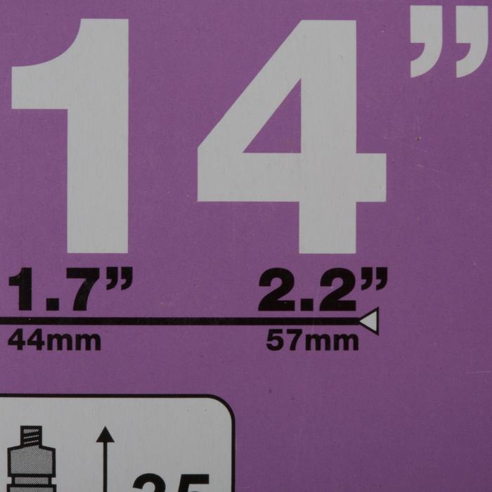 """Binnenband 14'' dwarsdoorsnede 1,7 tot 2,2"""", prestaventiel"""