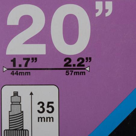 "20"" 1.7 to 2.2 Presta Valve Inner Tube"