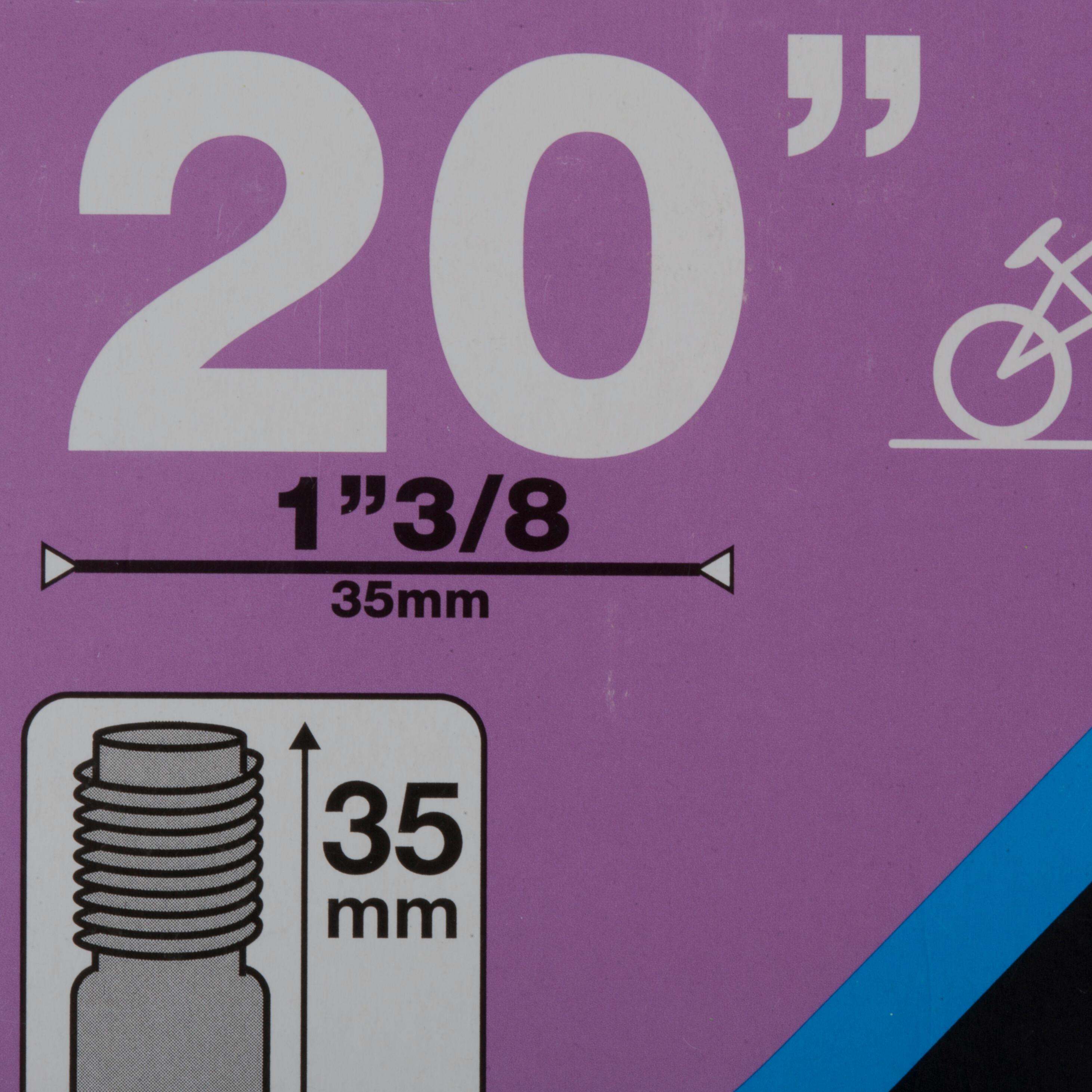 """CHAMBRE À AIR BMX 20""""x1,3/8 VALVE SCHRADER / ETRTO 32-40/438-451"""