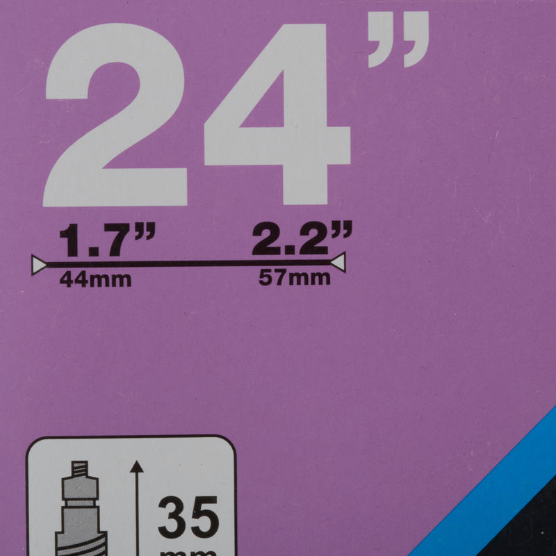 24_QUOTE_ Presta Inner Tube - 1.7 to 2.2 Cross-Section