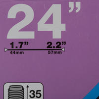 CÁMARA DE AIRE 24 X 1.7/2.2 VÁLVULA SCHRADER DE 35 MM