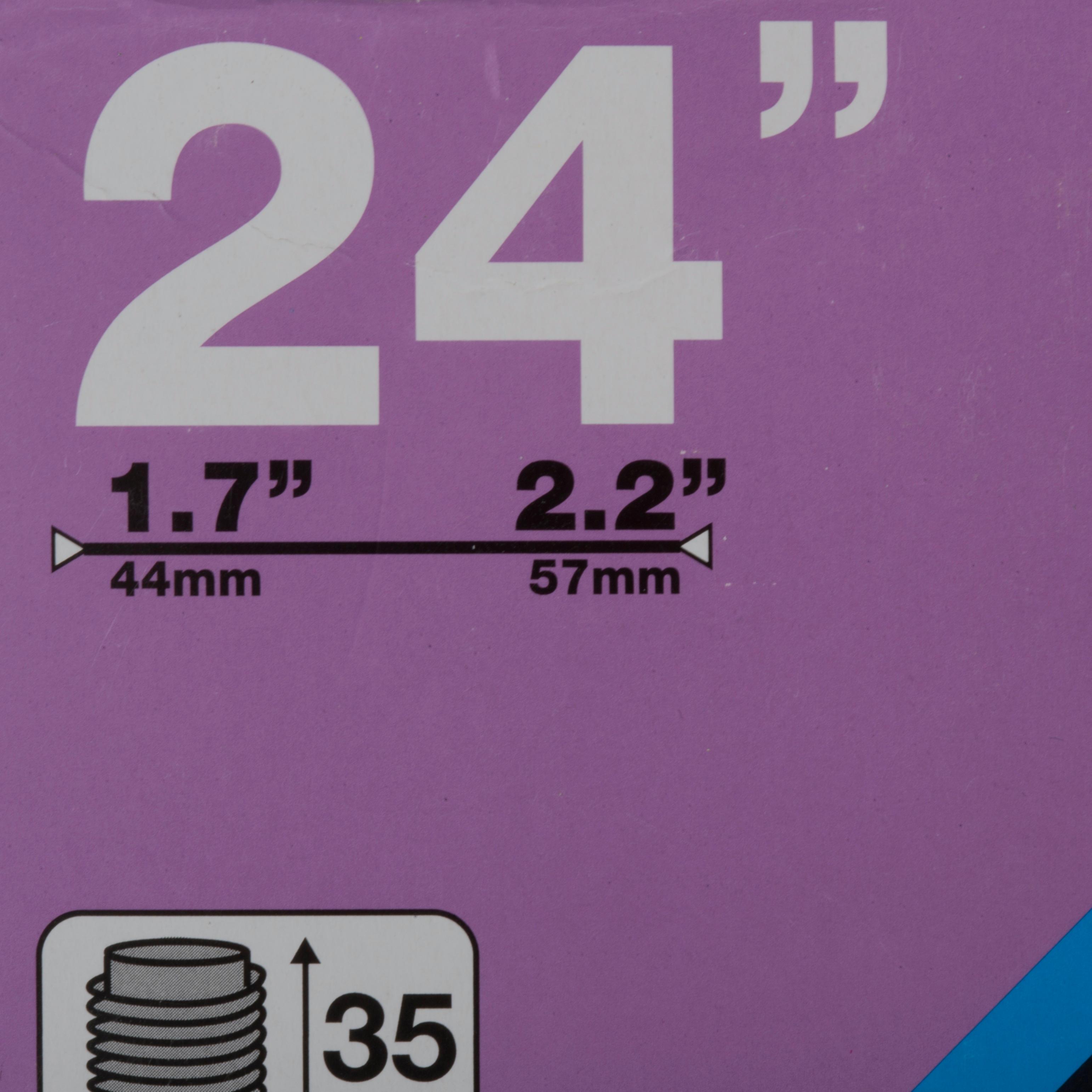 CHAMBRE À AIR 24 POUCES SECTION 1,7 A 2,2 VALVE SCHRADER