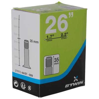 26x1.7/2.2 35 mm Schrader Valve Inner Tube