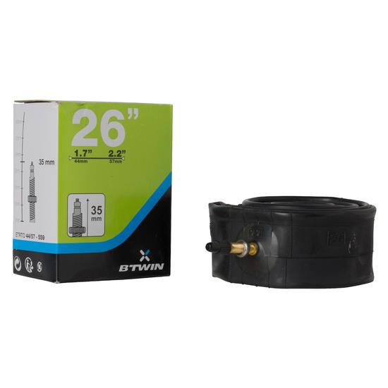Chambre a air 26x1 7 2 2 valve presta chambres air for Chambre a air velo dimension