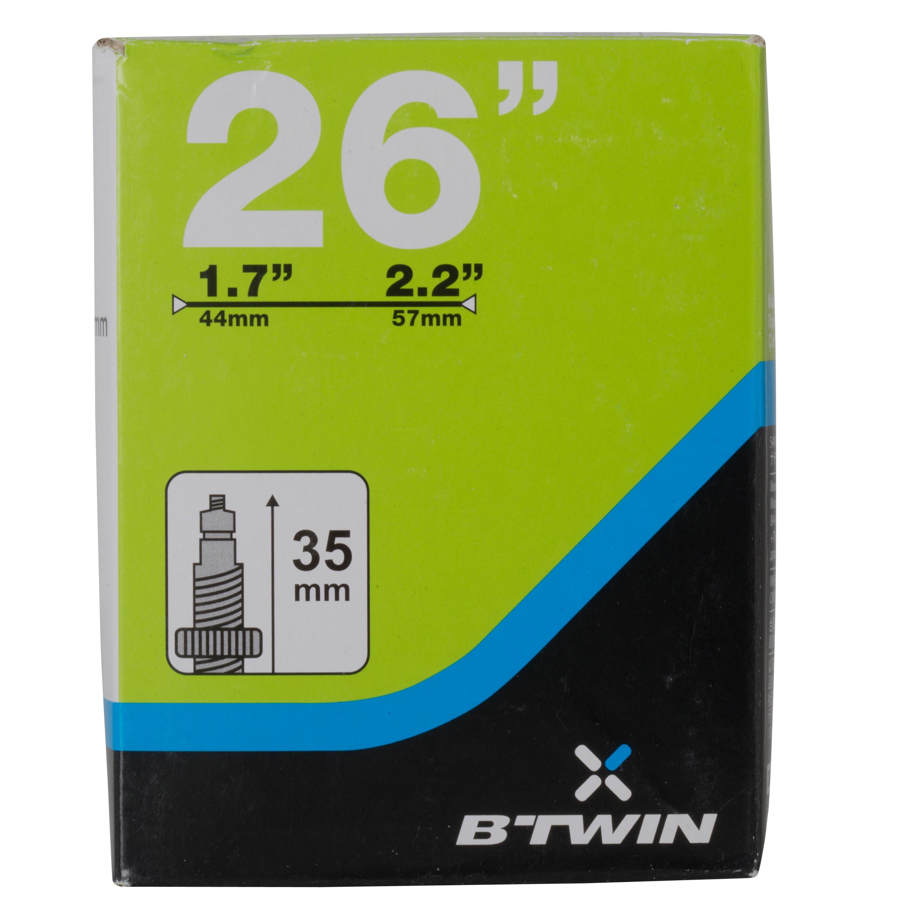 26x1.7/2.2 35 mm Presta Valve Inner Tube
