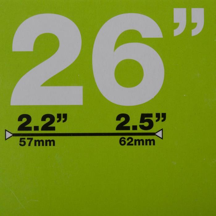 CHAMBRE A AIR VTT 26x2.2 à 2.5 VALVE SCHRADER