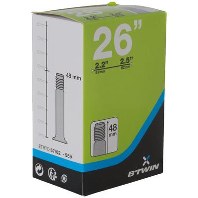 NEUMÁTICO MTB de 26x2.2 a 2.5 VÁLVULA SCHRADER