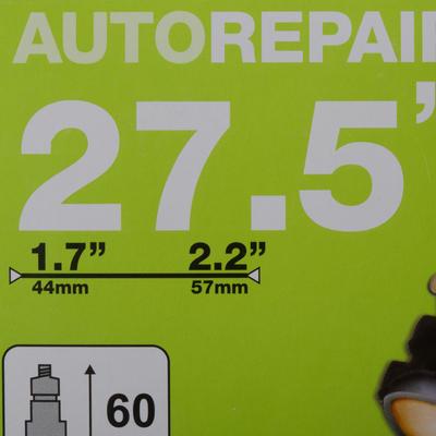 NEUMÁTICO 27,5x1,7/2,2 AUTORREPARABLE VÁLVULA PRESTA 60 mm