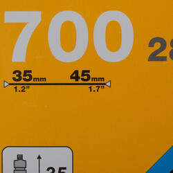 Binnenband 700X35/45 Presta-ventiel 35 mm - 992737