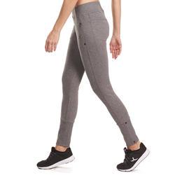 Molton damesbroek met ritsen onderaan, voor gym en pilates - 992953
